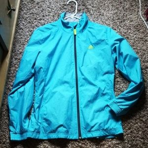 Adidas Lightweight Windbreaker Zip Up Jacket